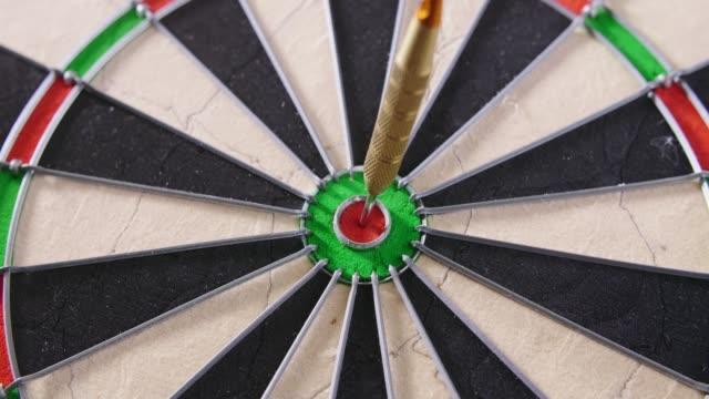 Dart Hitting Bullseye On Dartboard video