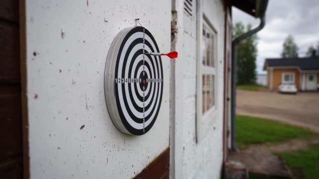 Dart hitting into target