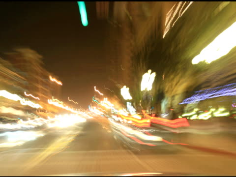 Dashcam 2 urban streets night video
