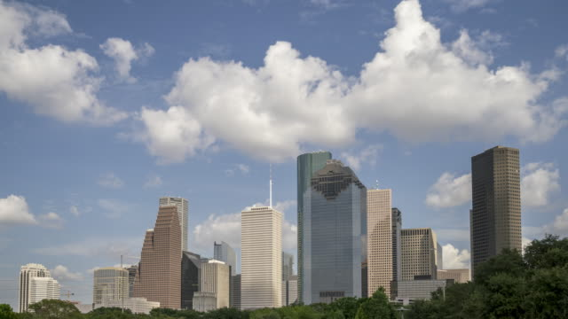 Dat Time Time Lpase of the Houston Texas Skyline From Large City Park