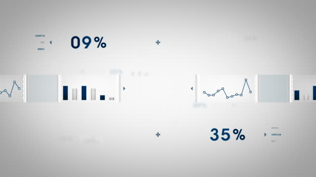 Data and Graphs Blue Zooming video