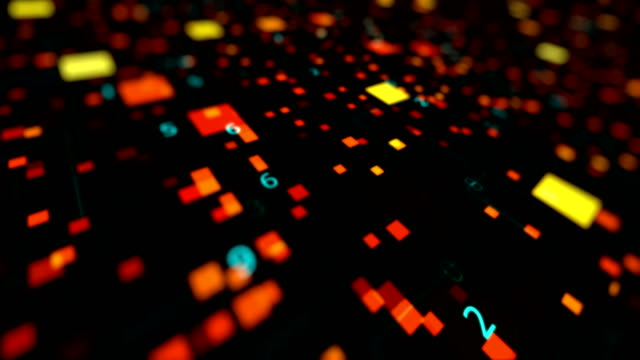 4K Data Background 4K background. Use it to create computer interface or project with hi-tech style. Combines elements of programming, science, math, numbers, data, graph, grids with thin lines and stylish particles. Fly through data and science elements. supercomputer stock videos & royalty-free footage