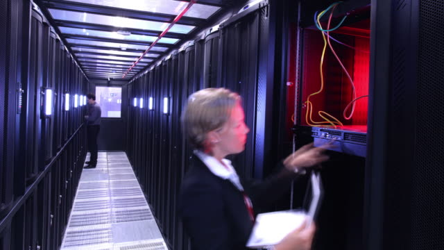 Data Center computer server room video