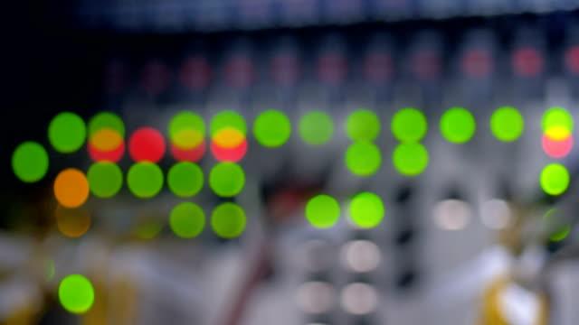 Data center flashing lights. Cybercrime concept. 4K. video