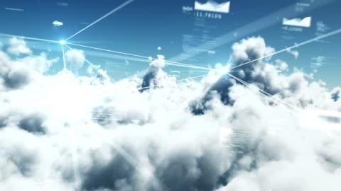 vídeos y material grabado en eventos de stock de nubes & de datos - nube
