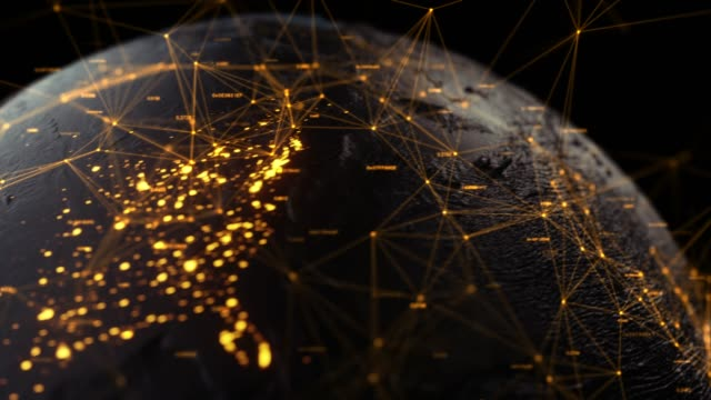 データの地球 - 経済点の映像素材/bロール