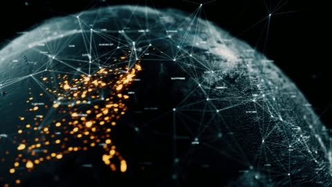 daten-erde - blockchain stock-videos und b-roll-filmmaterial