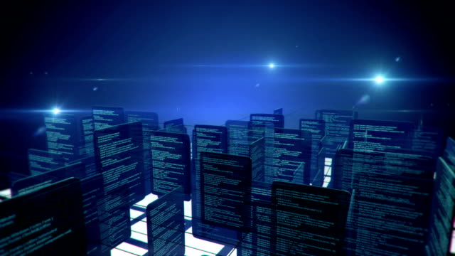 Data network (with Copy Space) - Loop Animation of data network with copy space. The part from frame 212 to the end (when the camera stopped moving) is seamlessly loopable. Created in Cinema 4D and Adobe After Effects. exchanging stock videos & royalty-free footage