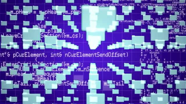 Data processing on purple background