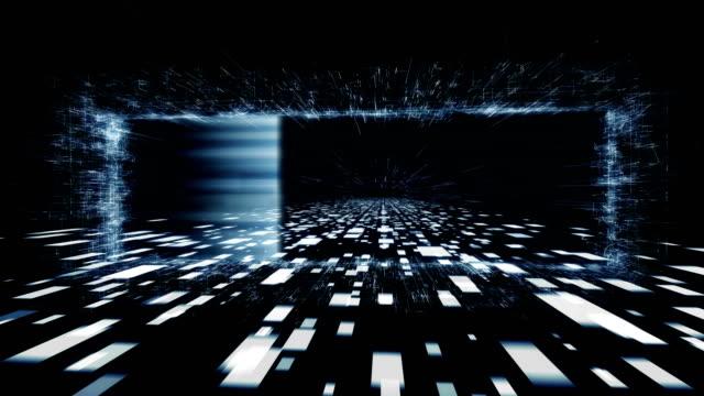 Data scanning. 3D firewall video