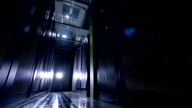 消灯とデータ保管室。 - バックアップ点の映像素材/bロール