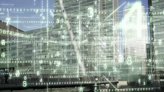 Data streaming in en uit stadskantoren. video