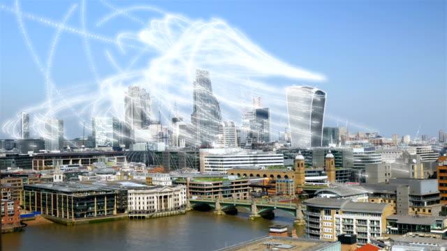 Gegevens streaming via de City of London. video