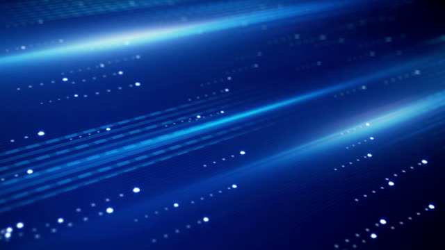 data transfer blue technology loopable background video