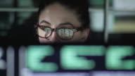 istock Data woman monitors close up 1171543575