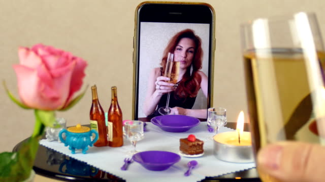 date at the doll table using remote access video