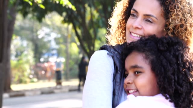 daughter and mother embracing - spanish and portuguese ethnicity stock videos & royalty-free footage