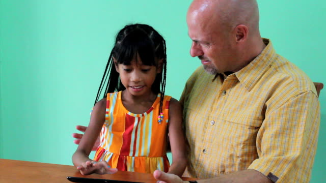 Daughter Hijacking Digital Tablet From Dad video