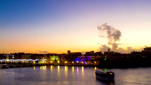 Dawn at Saint Anna Bay Stop Motion Stop motion of early morning looking at Saint Anna Bay in Curacao curaçao stock videos & royalty-free footage