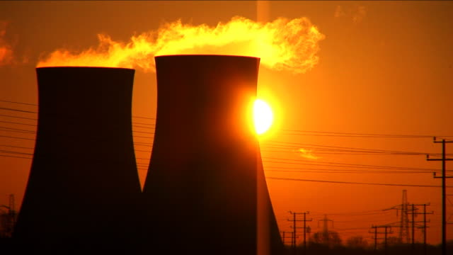 Dawn over the power station video