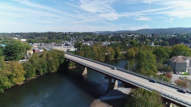 Day Aerial Establishing Shot of Connellsville Pennsylvania video