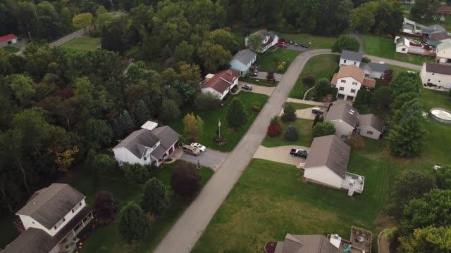 Day Aerial Establishing Shot Typical Pennsylvania Neighborhood video