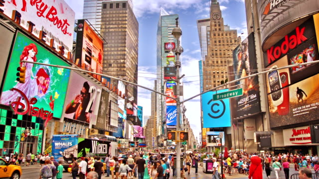 Day At Times Square In New York City