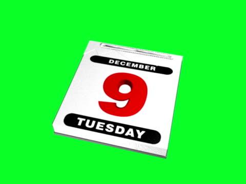 東京の日カレンダー&ページ(ntsc および pal ) - 十二月点の映像素材/bロール