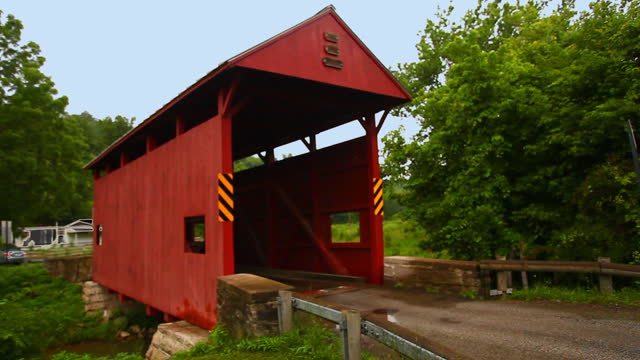 Day Covered Bridge in Pennsylvania, United States video