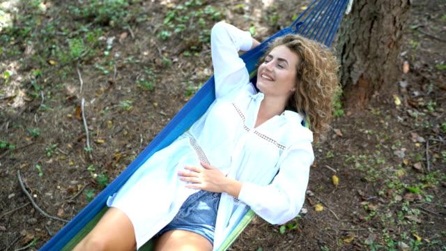 Day dreaming in hammock video