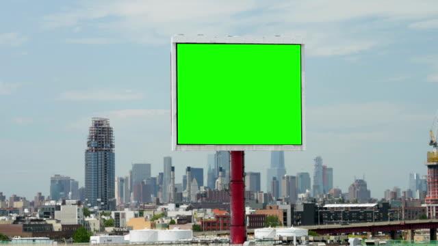 Day Establishing Shot Green Screen Billboard in New York City video
