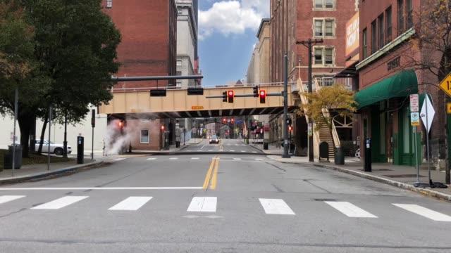 Day Establishing Shot of Pittsburgh Streets video