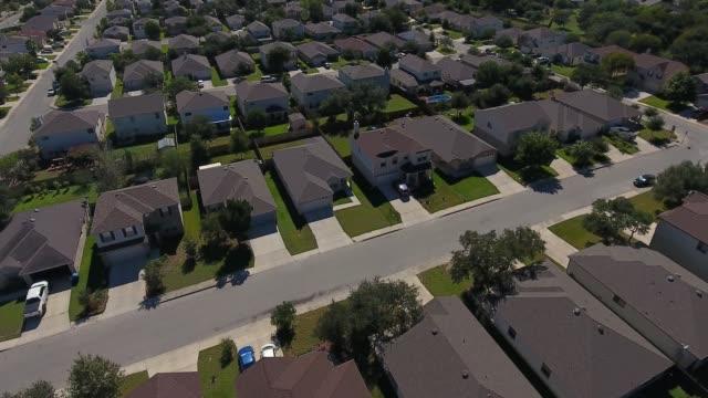day flyover aerial of san antonio texas neighborhood - san antonio texas stock videos & royalty-free footage