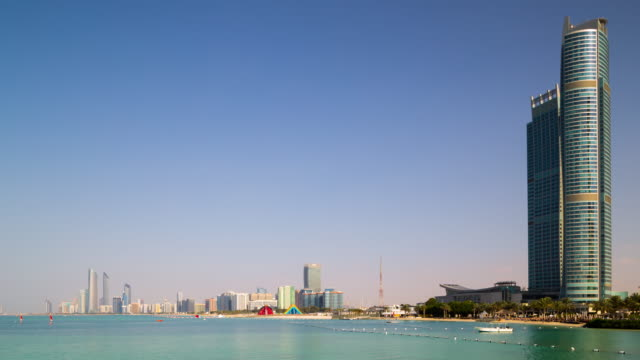 day light time lapse from abu dhabi bay video