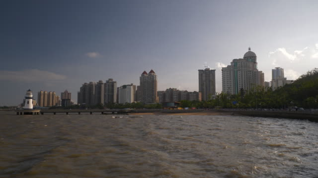 day light zhuhai city bay slow motion panorama 4k china - zhuhai video stock e b–roll