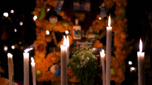 day of the dead altar - ноябрь стоковые видео и кадры b-roll