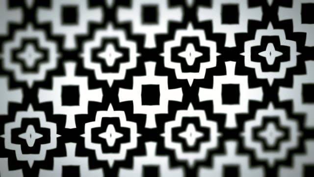 vídeos de stock, filmes e b-roll de dia dos mortos, estilo mexicano da influência preto e branco que looping o teste padrão - estampa floral