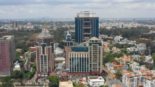 jour heure Bangalore centre ville célèbre centre aérien panorama 4k Inde - Vidéo