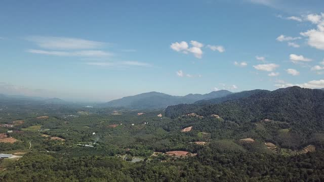 day time drone point of view kuala kubu rural scene