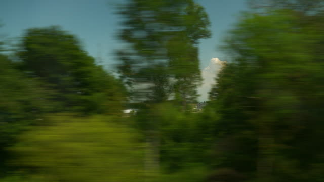 day time geneva city train road trip passenger side window pov panorama 4k switzerland