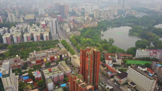 vídeos y material grabado en eventos de stock de día tiempo wuhan paisaje parque lago panorama aéreo 4k china - wuhan
