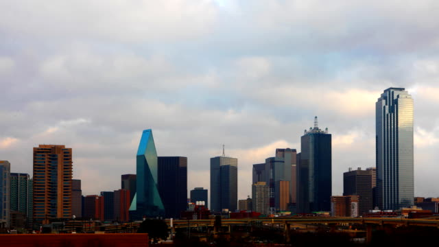Day timelapse of the Dallas skyline