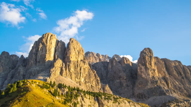 Day to Dusk Rock Mountain ,Dolomite Timelapse Mountain,travel,nature saddle stock videos & royalty-free footage
