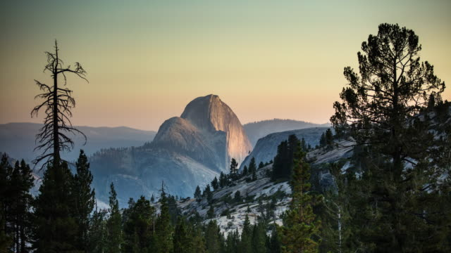 Day to Night Time Lapse of Half Dome, Yosemite National Park - video