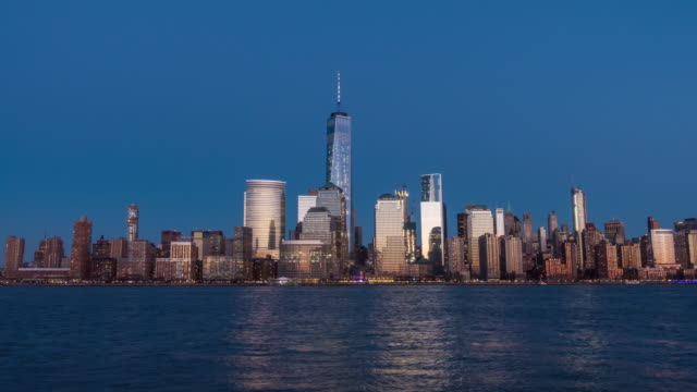 Day to night time lapse of New York skyline
