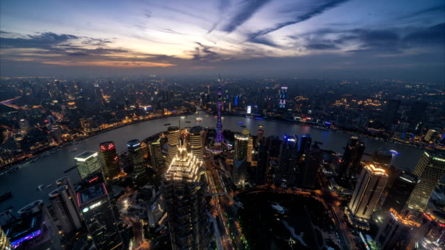 Day to night time lapse of Shanghai skyline and cityscape Day to night time lapse of Shanghai skyline and cityscape shanghai stock videos & royalty-free footage