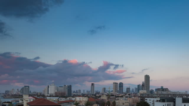 Day to Night Time Lapse of Tel Aviv from Jaffa. video