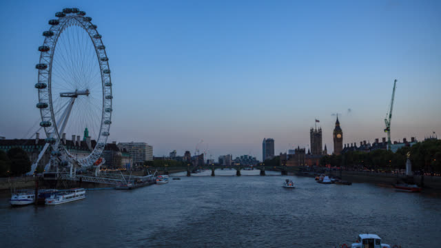 Day to night time lapse of the London Eye and Big Ben video