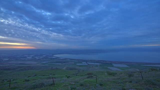 Day to Night Time Lapse of The Sea of Galilee. video