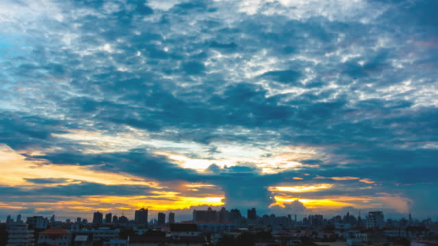 Day To Night Time-Lapse clouds sky scape of Bangkok city video